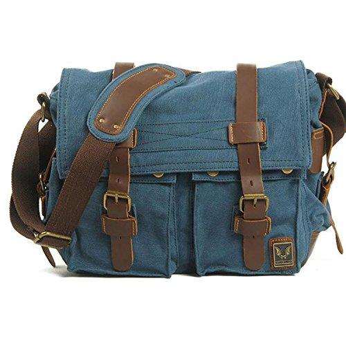 Plover Bolso al hombro para Hombre Mujer Lona Cross-Body Bolsas Bolsas de mensajero Bolsas de viaje azul