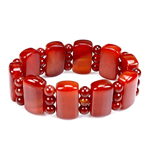 Pure natural Red agate Hand carved Female male bracelet Bangle Hand catenary elegant generous