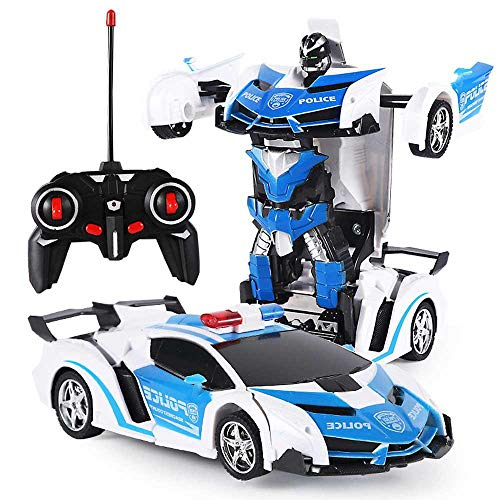 Gesture Sensing Remote Control Car One Button Transformation Car Kids Toy Gifts