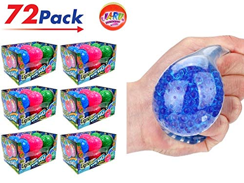JA-RU Light Up Bead Ball Squeezing Stress Relief Ball (Pack of 72 Units) and One Bouncy Ball - for Kids & Adults Item #4205-72 by JA-RU (Image #6)