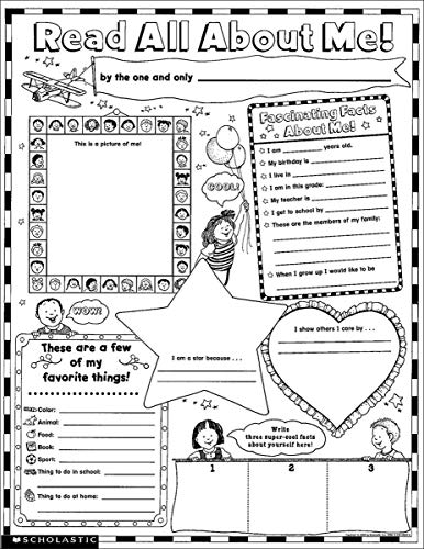Instant Personal Poster Sets: Read All About Me: 30 Big Write-and-Read Learning Posters Ready for Kids to Personalize and Display With Pride! -