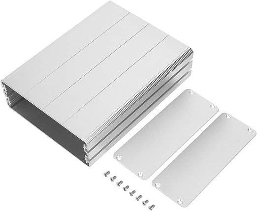 Suchinm Caja eléctrica, 45x122x160mm Caja de Proyecto de aleación de Aluminio Caja de Placa de Circuito Carcasa para decodificador GPS Plata: Amazon.es: Hogar
