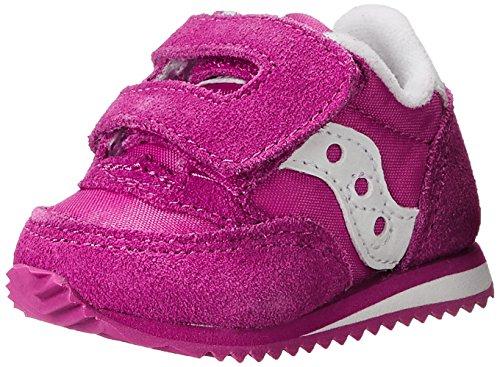Saucony Baby Jazz Hook & Loop Sneaker (Infant/Toddler),Paradise Pink,0 M US Infant ()