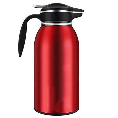 con bot/ón de seguridad de 2 l Jarra aislada al vac/ío termo de acero inoxidable dispensador de agua caliente y fr/ía para t/é caf/é bebidas de t/é