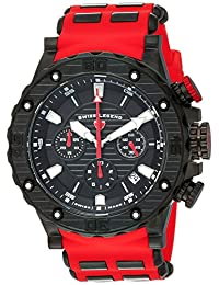 Swiss Legend Men's 'Hunter' Quartz Stainless Steel and Silicone Casual Watch, Color:Red (Model: 15253SM-BB-01-RDS)