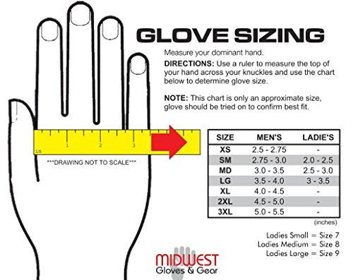 American Made Genuine Deerskin Buckskin Leather Work Gloves , 850, Size: Large by Midwest Gloves & Gear (Image #4)