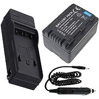 Battery + Charger For Panasonic HC-V180 HC-V180K HD Camcorder