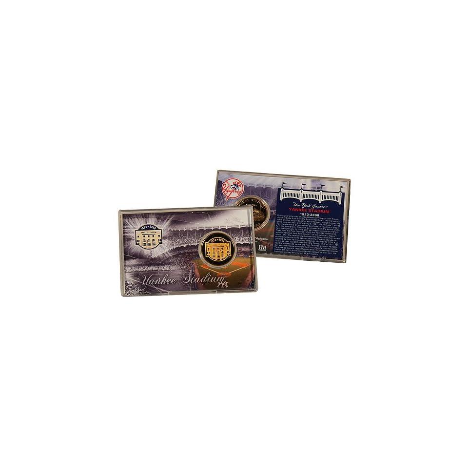 Highland Mint New York Yankees Yankee Stadium Final Season 24KT Gold Coin Card
