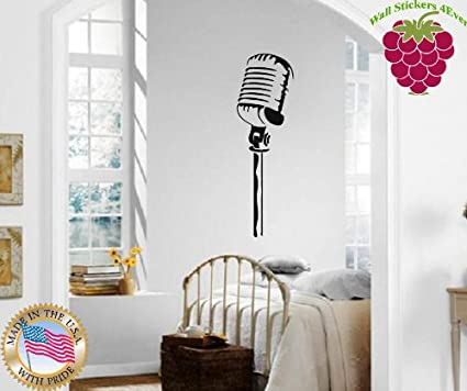 Wall Stickers Vinyl Decal Microphone Singing Song Singer