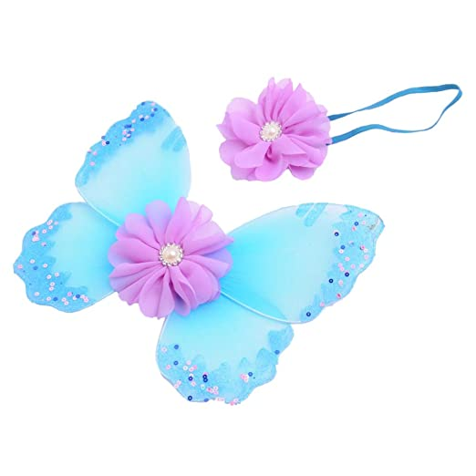 Neugeborene baby fotoshooting Fotografie Kostüm Blumen Stirnband Butterfly Wings