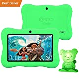Contixo Kid Safe 7'' HD Tablet WiFi 8GB Bluetooth, Free Games, Kids-Place Parental Control W/ Kid-Proof Case (Green) - Best Gift For Christmas.