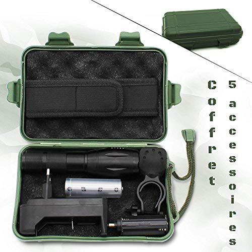 Lampe militaire ultra puissante avec Coffret lampe torche accessoires militaire-Lampe de poche rechargeable et batterie… 2
