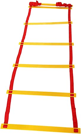 Escalera Deportiva de la escalerade entrenamiento cuerda Salto Escalera de agilidad Entrenamiento de coordinación de ritmo de baloncesto Escalera de fitness Entrenamiento de velocidad suave y fuerte: Amazon.es: Hogar