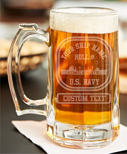 Chester Beer (USS CHESTER T. O'BRIEN DE-421 CUSTOM LASER ETCHED BEER STEIN)