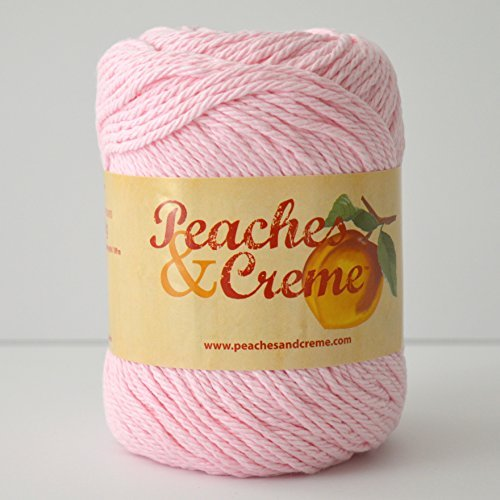 Peaches & Creme (Cream) Cotton Yarn Pastel Pink 2.5 oz. Color 11421