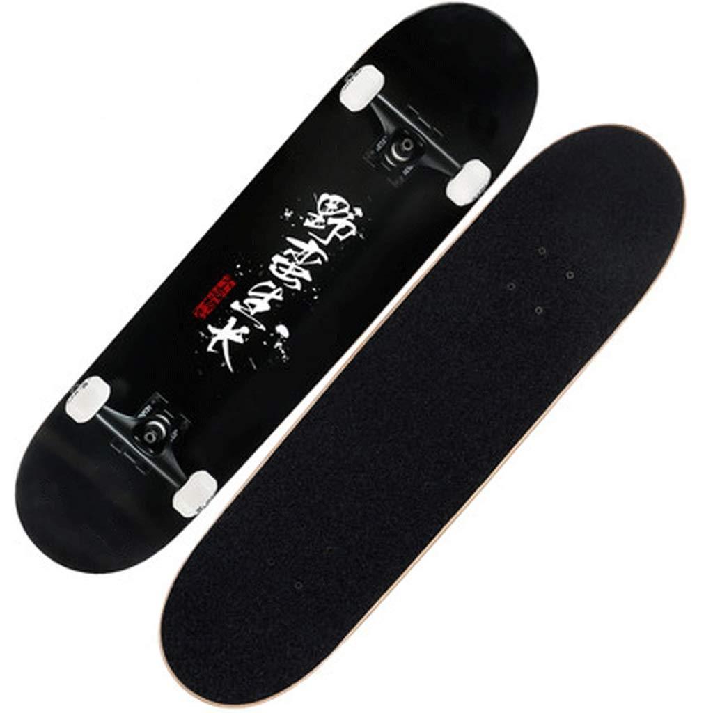 激安単価で プロフェッショナルスケートボードダブルロッカーアダルトビギナーメイプルフォーホイールストリートスキルスケートボード (色 : 白) : B07KTW2X4M 白) 黒 黒 黒, セブンマルイ質店:bfb496cd --- a0267596.xsph.ru