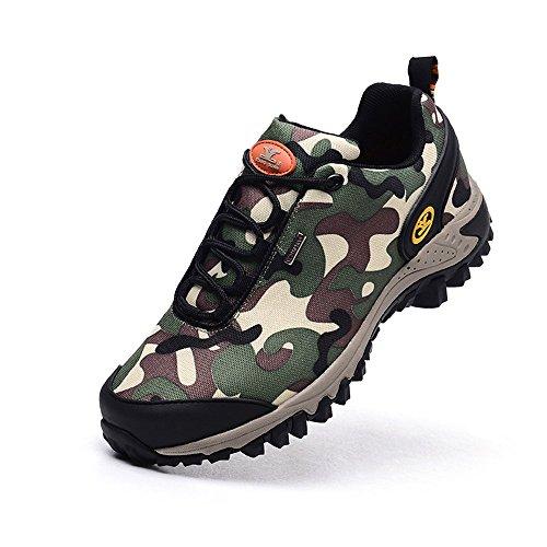 Walking up de Guan Randonnée Chaussures Camo Trekking Lace Xiang verte Footwear Homme Camo Imperméable Respirant Armée Outdoor Camping OqpCI