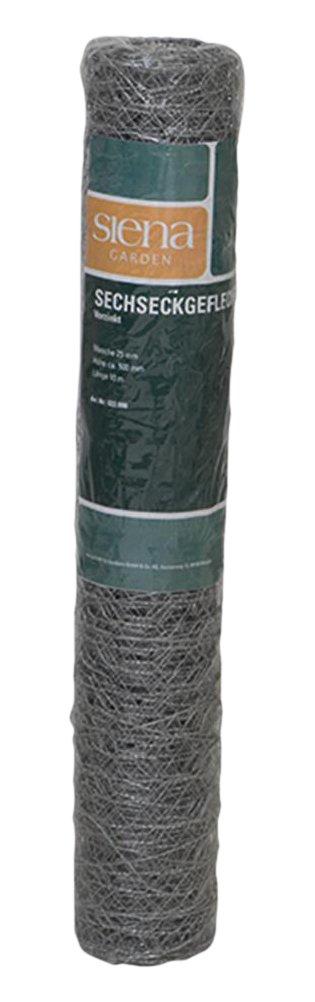 Siena Garden Sechseckgeflecht 25 x 500 mm x 10 m 22098 1 St/ück verzinkt