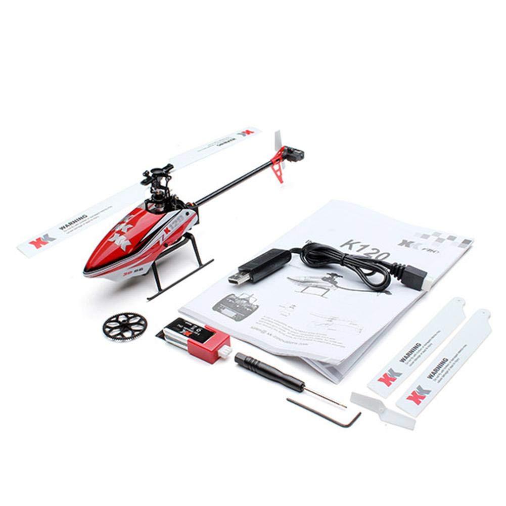 ventas de salida XK K120 RC Helicóptero Mando Mando Mando a distancia HelicopterShuttle 6CH sin escobillas 3D6G sistema RC Flying Helicopter RTF 300 mAh Mando a distancia RC avión juguete regalo para niños  auténtico