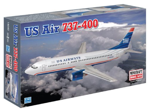 Minicraft Models US Air 737-400, 1/144 Scale