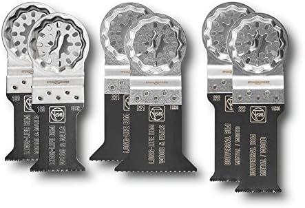 1/V Fein 35222952300/Best of E Kit daccessoires argent compatible avec toutes les oszillierer 6/pi/èces Star Lock Porte-outils E de Cut de scie avec denture bim/étallique