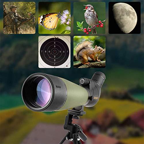 Lunette de visée Gosky Update 20-60x80 avec trépied, Sac de Transport et Adaptateur de téléphone - télescope coudé BAK4… 5