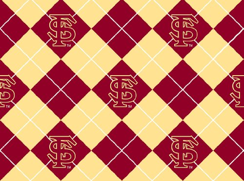 Florida State University Diamonds Fleece Fabric - Sold By the Yard (Diamond Fleece Blanket)