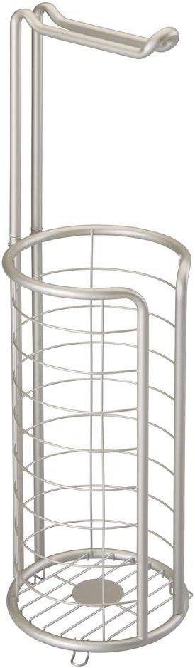 plateado mate Porta rollos de pie con capacidad para 4 rollos de papel higi/énico mDesign Portarrollos de papel higi/énico de metal satinado Elegante dispensador de papel higi/énico inoxidable