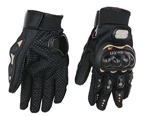 Pro-Biker Bicycle Short Sports Leather Motorcycle Powersports Racing Gloves (Black, L) by Sunflower (Image #6)