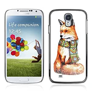 Designer Depo Hard Protection Case for Samsung Galaxy S4 / Stylish Hipster Fox Painting