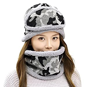 994b3f09e00 Winter Beanie Hat Scarf and Mask Set 3 Pieces Thick Warm Slouchy ...