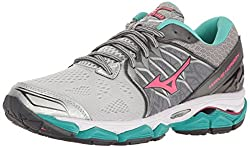 Mizuno Women's Wave Horizon Running Shoe, Silverpink, 6.5 B Us
