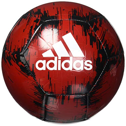 adidas Glider 2 Soccer Ball, Power Red/Black/White, 5