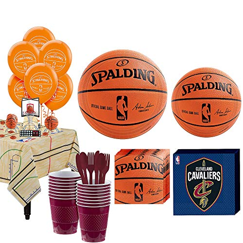 Party City Super Cleveland Cavaliers Party Kit and Supplies for 16 Guests, Includes Table Cover, Decorations and -