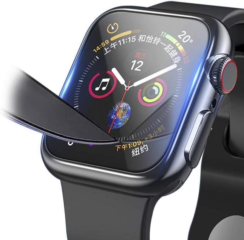 Protector de Pantalla Apple Watch 44mm, Protector Apple Watch Series 4, Protector de Pantalla de Cristal Blindado para Apple Watch 4, Protector de Pantalla de Cristal Templado 9H para iWatch 40 mm