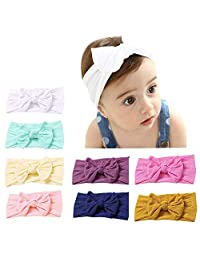 LucaSng Baby Headbands Baby Girls Hairband Newborn Baby Girl Headbands and Bows, Hairband Turban for Baby Girls (8PCS)