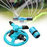 KingSo Lawn Sprinklers for Garden Automatic 360 Rotating Adjustable Watering 3 Arm Sprayers Sprinkler System Review