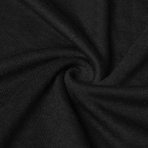 Noir T Tops Chemisier Mode Manche pissure Sexyville t Femme sans Solide Tops Dentelle Shirt Dbardeur Col Rond OaO1HCxqw