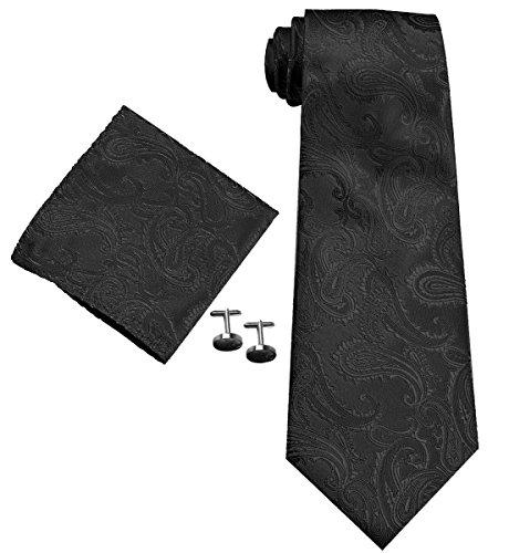 Coxeer Paisley Graduation Neckties Cufflinks