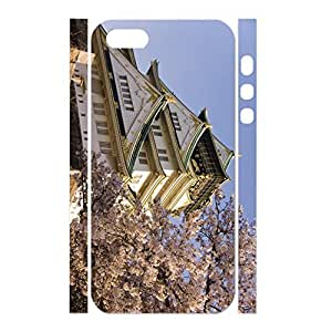 Customized Building Series Style Hard Plastic Case Cover for Iphone 5 5s