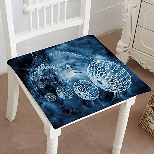 (Mikihome Squared Seat Cushion Beyond Human Series Composition of Human and Natural Forms Garden Patio Home Kitchen Office Sofa Seat Pad)