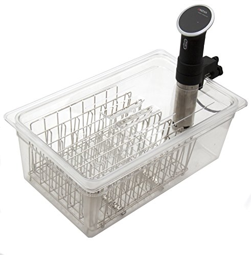 LIPAVI Sous Vide Rack - Model L20 - Marine Quality 316L Stainless Steel - Square 13.2 x 9.8 Inch - Adjustable, Collapsible, Ensures even and Quick warming - Fits LIPAVI C20 Container by LIPAVI (Image #7)