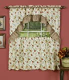 Achim Home Furnishings Classic Country Tier and Swag Set, 57-Inch by 36-Inch, Antique