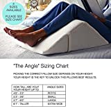 'The Angle' Guaranteed to Help Reduce Back Pain Immediately! US Patented, Over 1 Million Happy Backs - Back Pain Relief, Therapy Wedge, 4 sizes to fit everyone (Large) Covered with Extra Plush Memory Foam, 100% Made in USA - For a Limited Time - Introductory Pricing.