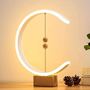 【2020 Update】Desk Magnet Lamp, DHTS Heng Balance lamp Switch on in mid-air, Personality Table Lamps Nightstand Mini Desk Light for Bedroom, Living Room, Baby Room
