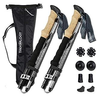 TREKOLOGY TREK-Z Collapsible Tri-fold Trekking Pole/Hiking Poles - Adjustable Lightweight Aluminum Walking Sticks… 3