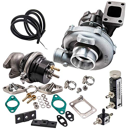 (maXpeedingrods T3/T4 T04E Turbocharger Universal Wastegate 7psi to 21psi Boost Controller Kit for 1.6L-2.5L engines 800HP )