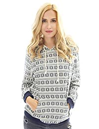 Bearsland Women's Maternity Hoodie Breastfeeding Shirt Nursing Sweatshirt Pockets