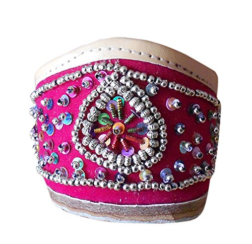 indienne Creations Séquence avec Chaussures Kalra femme traditionnelle travail en velours Rose pour ethnique TZwn8dxC