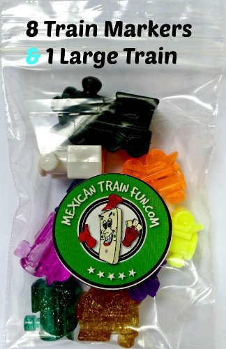 (Mexican Train Fun Train Markers with Large Starter Train)